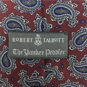 Robert Talbott 100% Silk Tie The Yankee Peddler